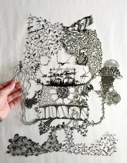 έργα τέχνης από μία κόλλα χαρτί