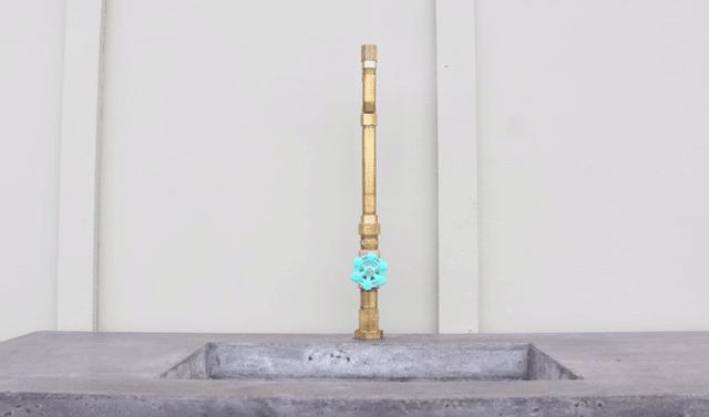 DIY τσιμεντένιος νιπτήρας