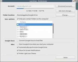 OverGrive Linux Desktop Client που δουλεύει