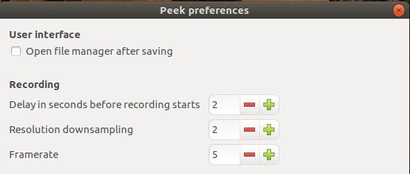 peek εφαρμογή για GIF