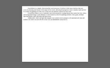 focuswriter distract free text editor